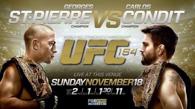 Slutsålt för UFC 154: St. Pierre vs Condit