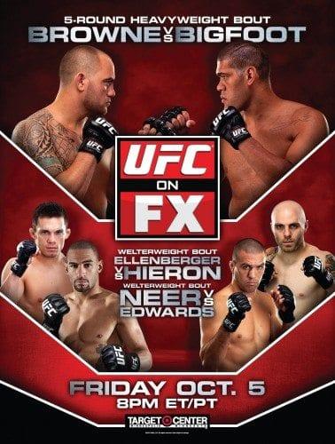 UFC on FX 5: Browne vs Bigfoot – Redaktionstipset