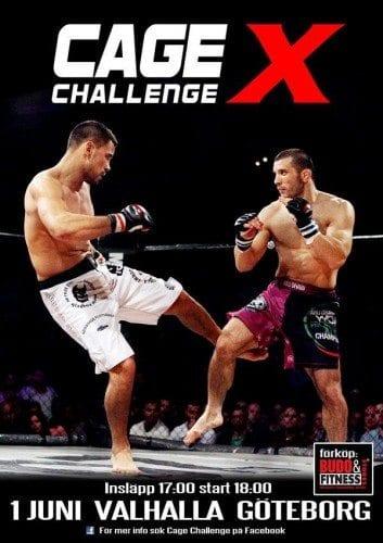 Cage Challenge X anordnas i Göteborg den 1 juni