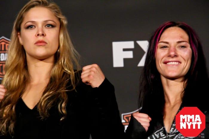 TUF17 Ronda Rousey Rowdy Cat Zingano MMAnytt Foto - Bobby Cavian