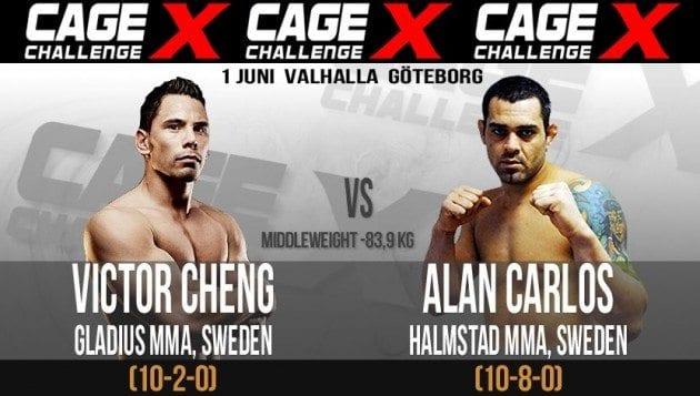 Victor Cheng möter Alan Carlos på Cage Challenge X den 1 juni