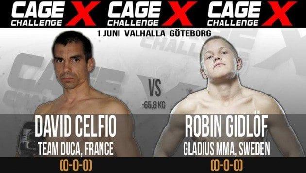 Proffsdebutanten Robin Gidlöf har fått en motståndare på Cage Challenge X