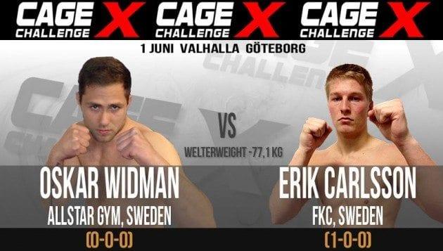 Cage Challenge X: Erik Carlsson vs Oskar Widman