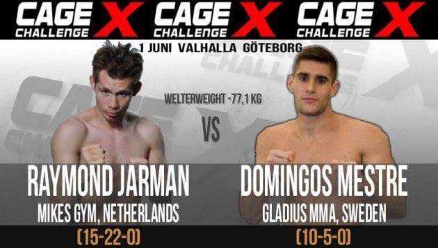 Victor Cheng vs Alan Carlos inställd, Domingos Mestre vs Raymond Jarman nytt huvudevent på Cage Challenge X