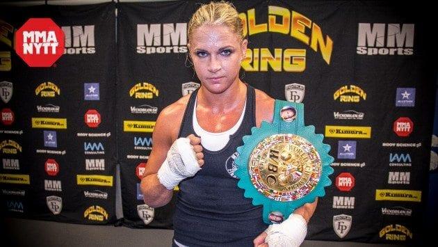 """Frida Wallberg om titelmatchen på Golden Ring: """"Förvänta er att bältet stannar i Sverige"""""""