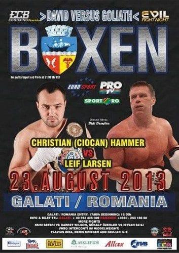 """Klara Svenssons tyska promotor """"EC Boxpromotion"""" arrangerar gala i Rumänien 23:e augusti"""