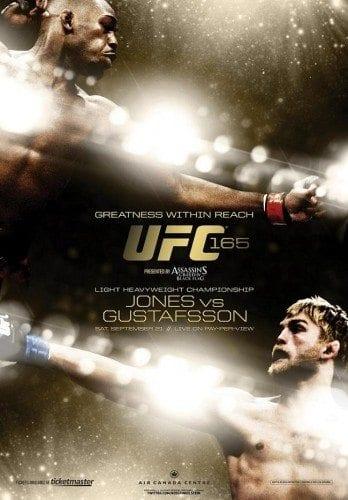 Officiell poster för UFC 165: Jones vs Gustafsson