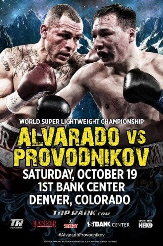 Mike Alvarado och Ruslan Provodnikov lovar fyrverkerier i Denver, Colorado den 19:e oktober