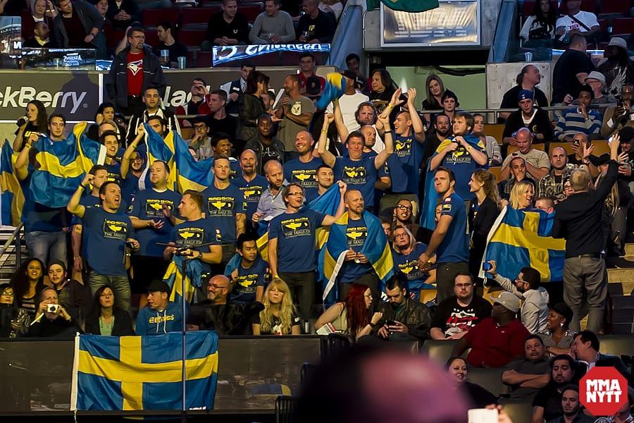 Klack MMAnytt publik audience sweden sverige ufc165 alexander gustafsson