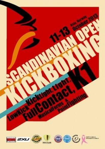 Scandinavian Open i kickboxning avlöper i Oslo 11-13 oktober