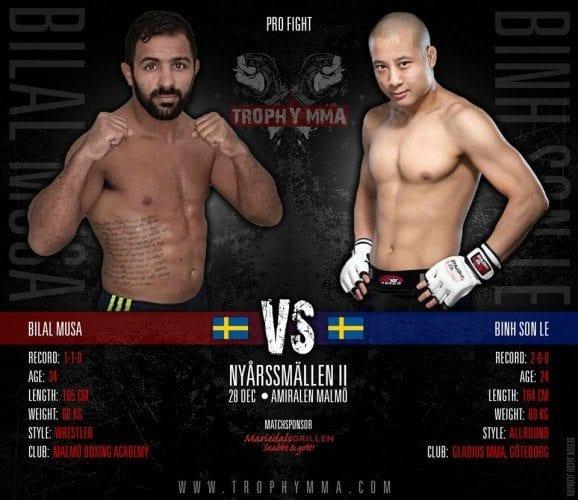 "Trophy MMA III: ""Nyårssmällen"" – Bilal Musa vs Binh Son Le"
