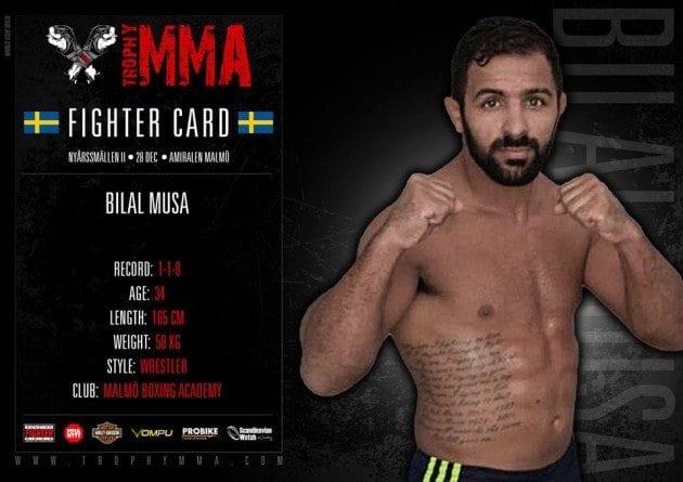 Bilal Musa skadad och borta från Trophy MMA III