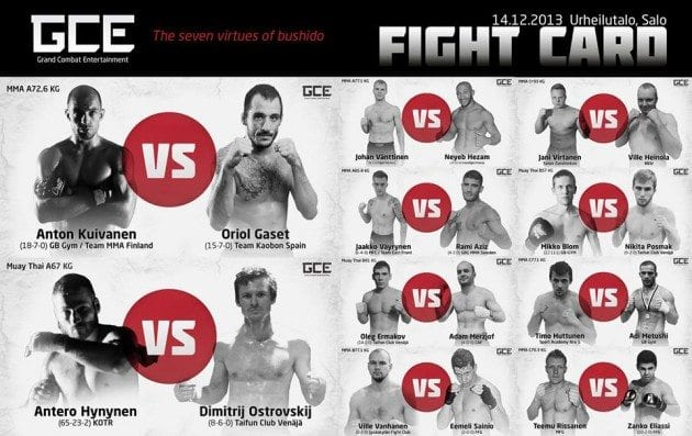 Rami Aziz segrar på Grand Combat Entertainment 1
