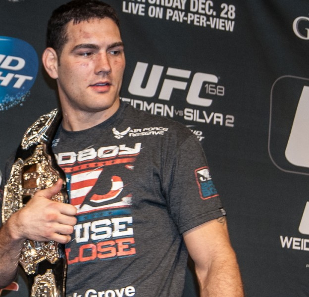 UFC 168 Chris Weidman post presser #MMAnytt-01928