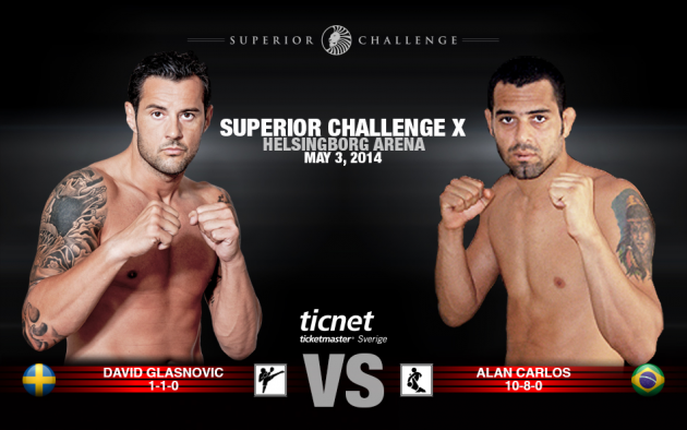 Superior Challenge X: David Glasnovic möter Alan Carlos