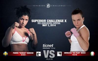 Pannie Kianzad möter Annalisa Bucci på Superior Challenge X