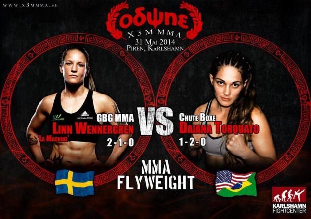 Linn Wennergrens blogg – Thaimatch på lördag och MMA-match 31 maj!