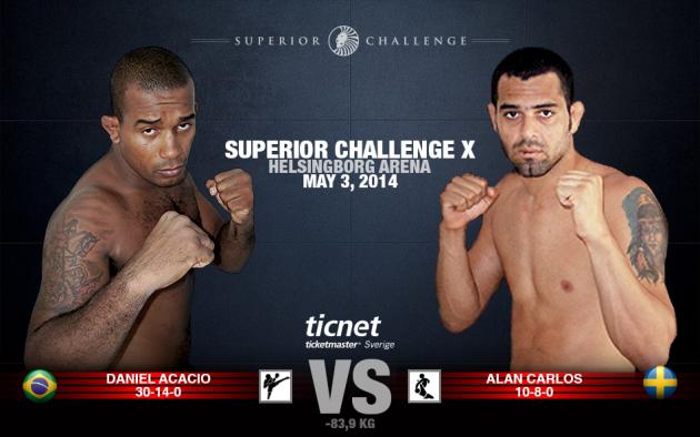 Superior Challenge X: Daniel Acacio möter nu Alan Carlos på grund av bortfall