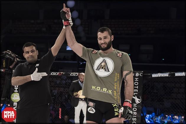 Yosef Ali Mohammad klar för huvudmatchen på Trophy MMA VIII