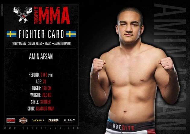 Emil Hartsner vs Kamil Selwa & Mattias Rosenlind vs Amin Afsan klart för Trophy MMA IV