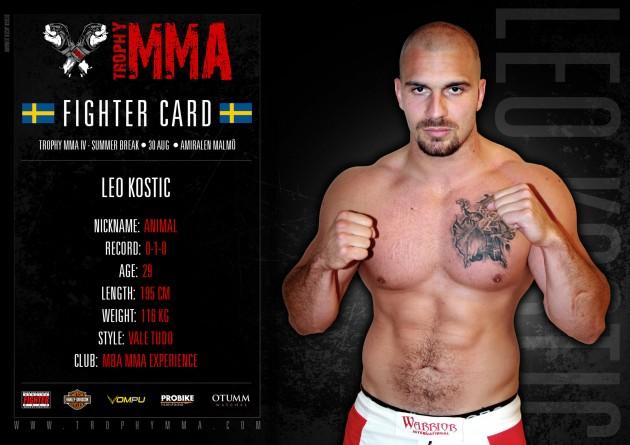 Trophy MMA IV: Leo Kostic klar för match
