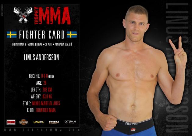 Trophy MMA IV: Linus Andersson gör proffsdebut