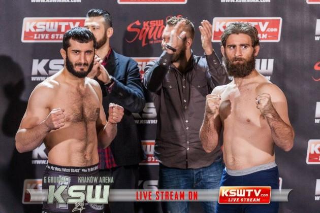 KSW 29: Khalidov vs Cooper – Invägningsresultat