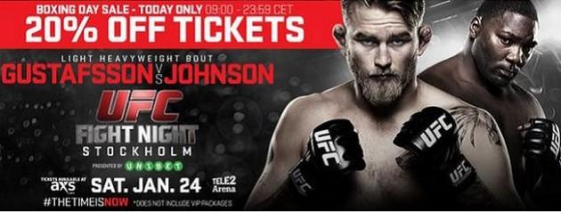 UFC on FOX 14 – Biljetter 20 % billigare fram till midnatt