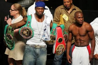 50 Cent förväntas satsa 1.6 miljoner dollar på att Floyd Mayweather besegrar Manny Pacquiao