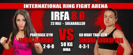 Iman Darabi vs Simona Soukupova bokad för IRFA 8