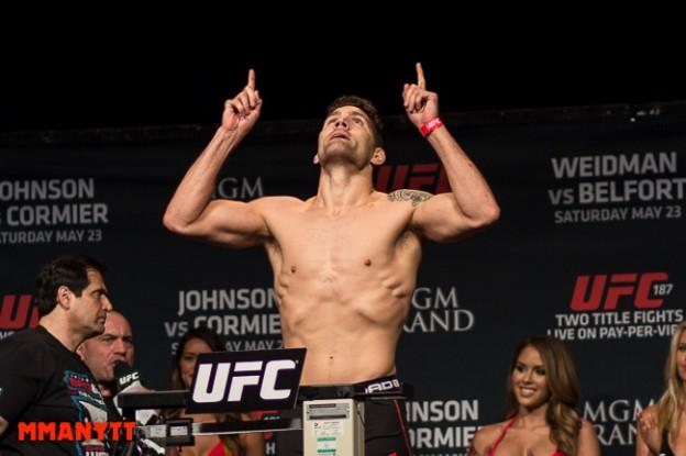 UFC 187 Chris Weidman Las Vegas Nevada MGM Grand Arena MMAnytt weighin foto Mazdak Cavian_-36