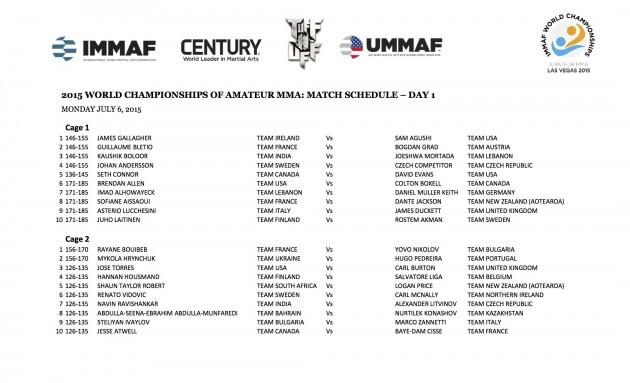 Dragningarna för VM i Amatör-MMA klara