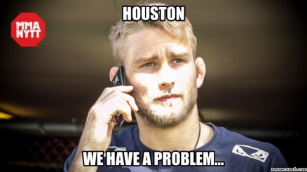 Alexander Gustafsson meme Houston we have a problem