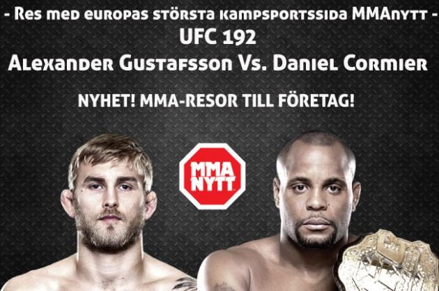 Vårt resepaket för UFC 192: Cormier vs. Gustafsson 3 Oktober – Uppdaterad med schema