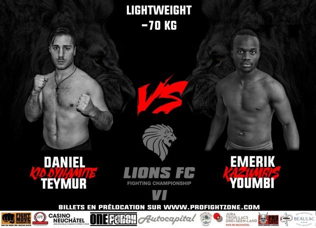 Daniel Teymur möter Emerik Youmbi på Lions FC 5