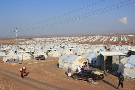 Bild på Khanke-lägret, som är Kurdistans största flyktingläger. Foto: Bengt Sigvardsson
