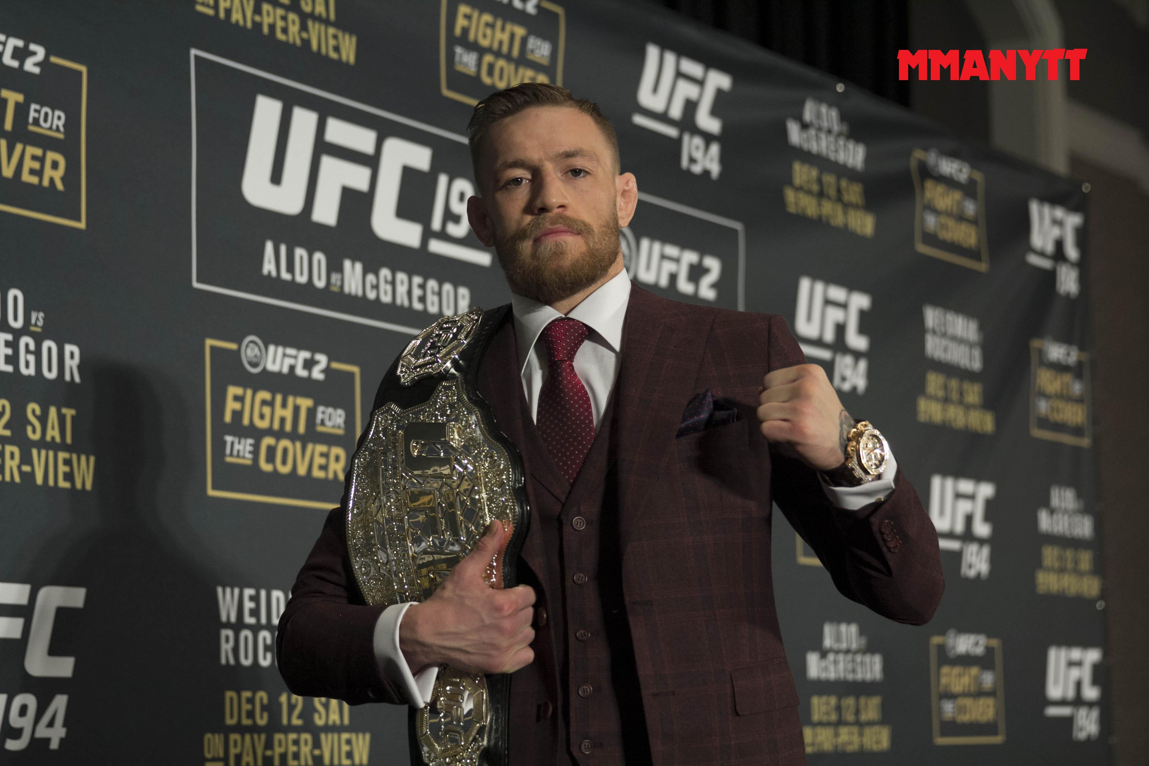 Alla vill möta Conor McGregor just nu. Men mycket tyder på att en match mellan honom och dos Anjos kan vara aktuell härnäst. Foto: Mazdak Cavian