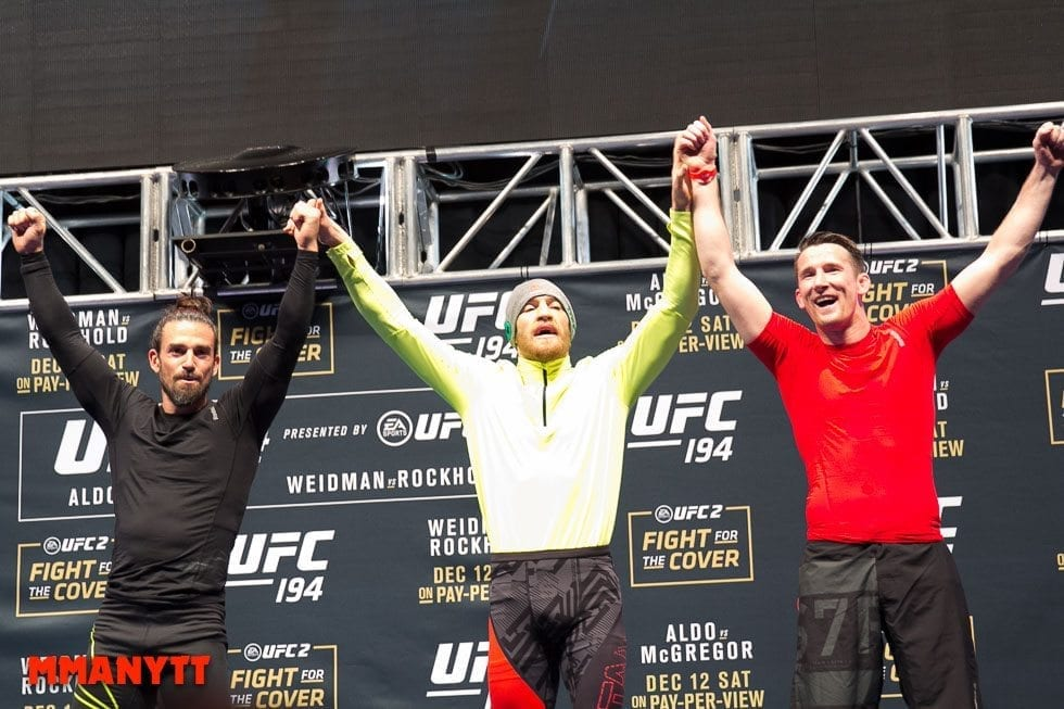 Ido Portal Conor McGregor Owen Roddy UFC The Ultimate Fighter Finale Weigh-in  MMAnytt Photo Mazdak Cavian-18