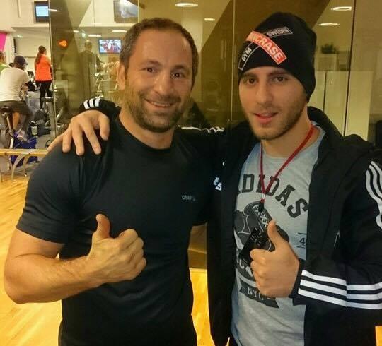 Eli Elias tillsammans med Paolo Roberto.