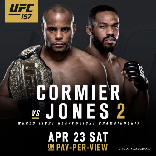 Daniel Cormier och Jon Jones klara för returmatch på UFC 197 den 23 april
