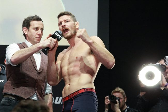 UFC FIGHT NIGHT 84 Michael Bisping WEIGH IN  O2 LONDON 2016 PHOTO MAZDAK CAVIAN MEDIADAY FIGHT-101