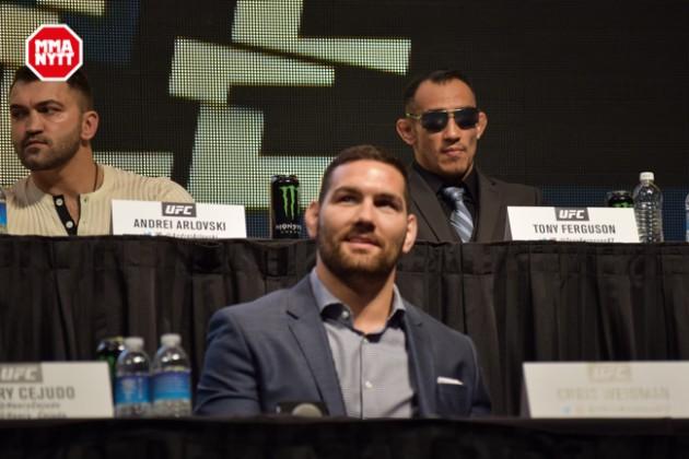 UFC 196 LAS VEGAS MGM DPATINKIN 2016 WEIGH IN CHRIS WEIDMAN 2