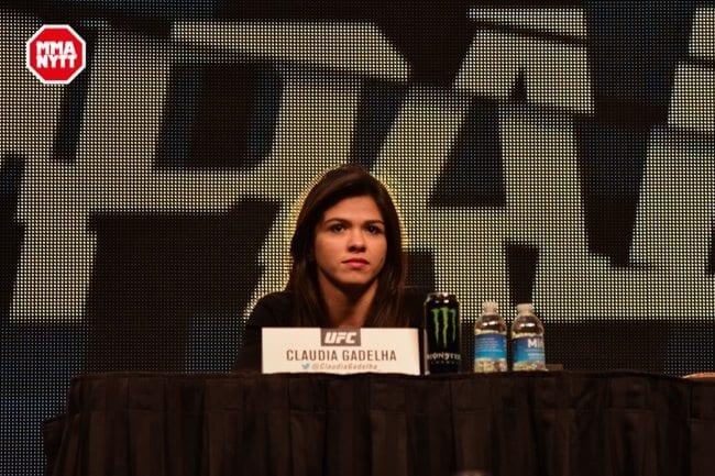 UFC 196 LAS VEGAS MGM DPATINKIN 2016 WEIGH IN CLAUDIA GADELHA