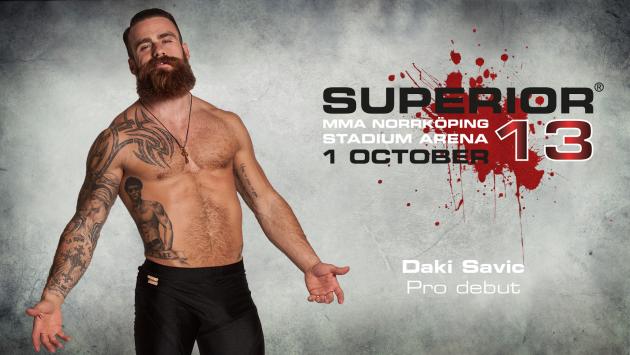 Svenska Daki Savic gör MMA-debut vid Superior Challenge 13