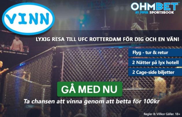 Tävling: Vinn lyxig resa till UFC Rotterdam!