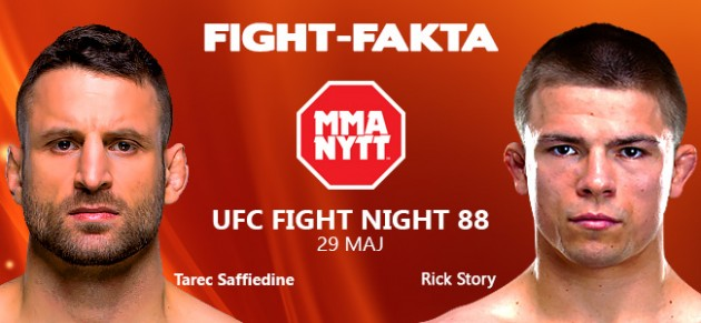 Fight-Fakta: UFC Fight Night 88: Tarec Saffiedine vs Rick Story