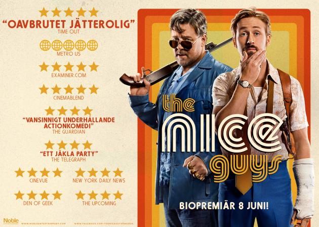 Vinnarna av biobiljetter till The Nice Guys