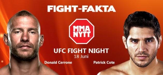 "Fight-fakta: Donald ""Cowboy"" Cerrone vs. Patrick Cote"