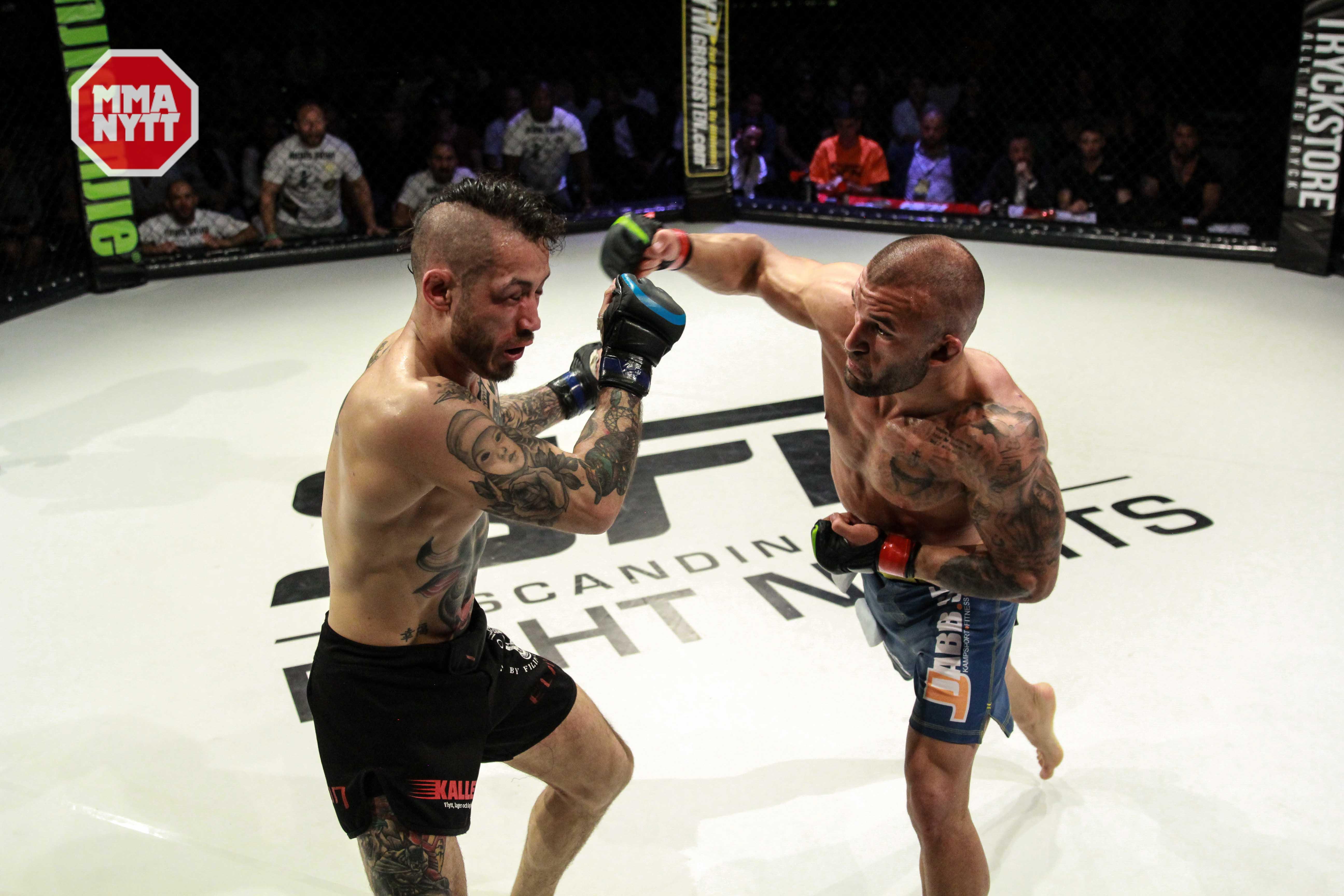 Fernando Flores går en riktigt hård match mot Michael Ersoy och vinner på poäng efter tre underhållande ronder. Foto: Mazdak Cavian