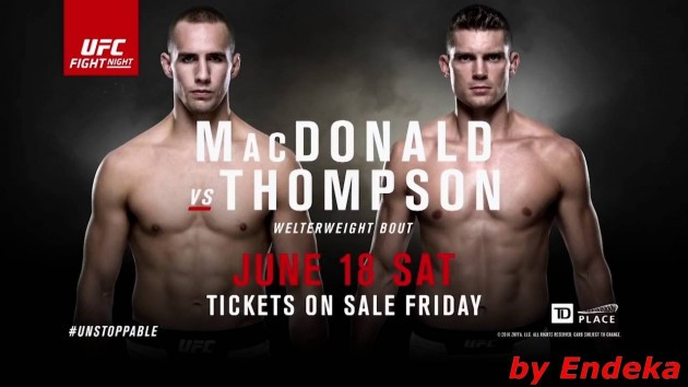 UFC Fight Night 89: MacDonald vs. Thompson – Matchkortet